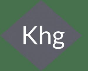 logo KHG web developer freelance forme triangle
